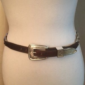 Justin Boots Accessories - Justin leather and silver belt
